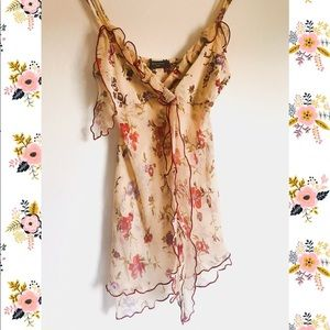 Sonia Fortuna 🌺 Sheer top with flowers